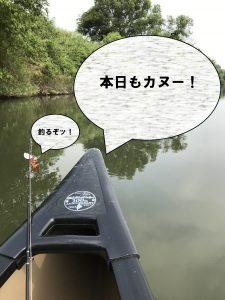 カヌー釣行!