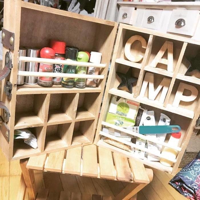 木製スパイスボックス