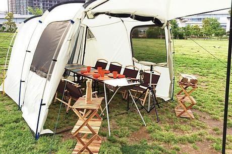 バーベキューガーデンに張ってあるテントの写真