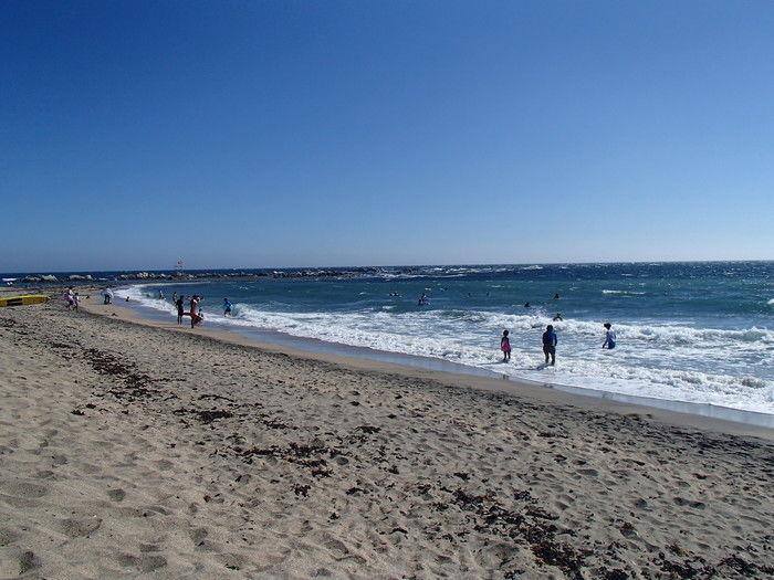 根元海水浴場の海岸沿い