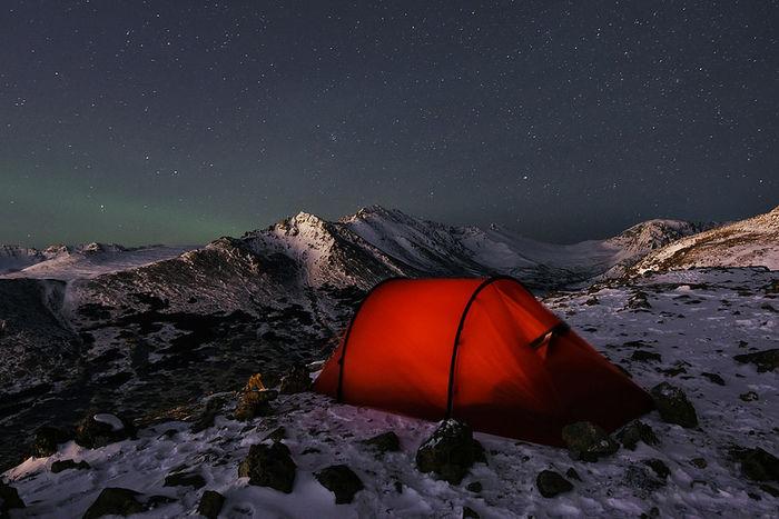 冬の時期のキャンプ