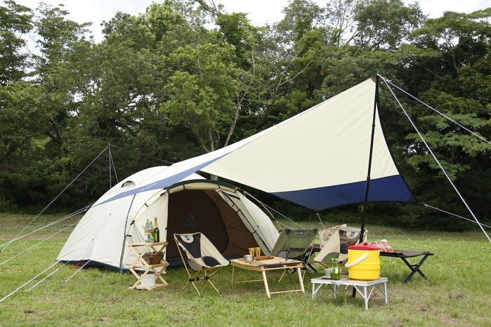 テントサイトの写真