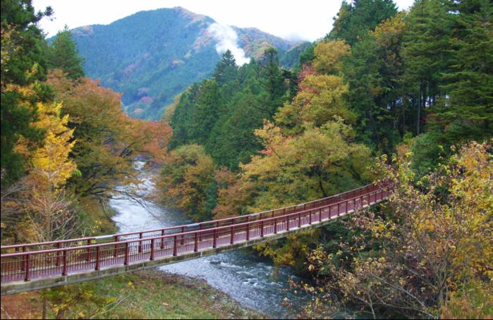 秋川渓谷の吊り橋