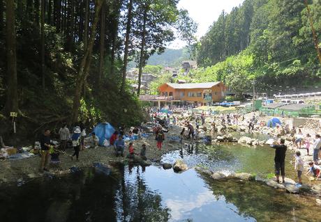 秋川国際マス釣り場の川