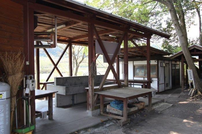 リバーサイドパークの谷の炊事場