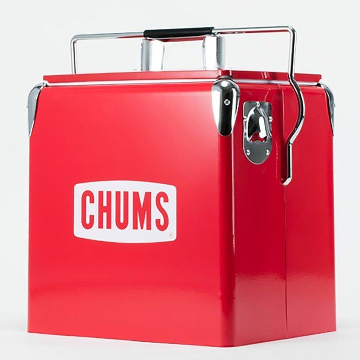 チャムスの赤いクーラーボックス