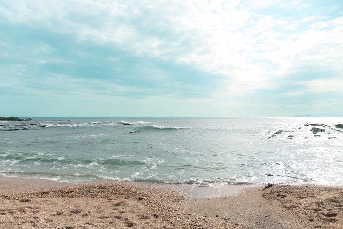 晴れた日の海の写真