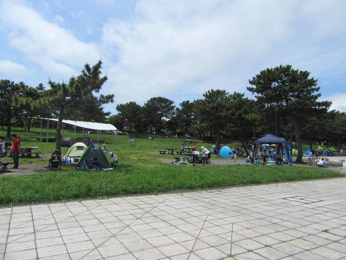 横浜海の公園バーベキュー場のバーベキューサイト