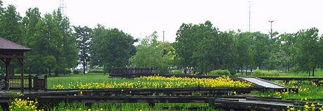 舎人公園の外観
