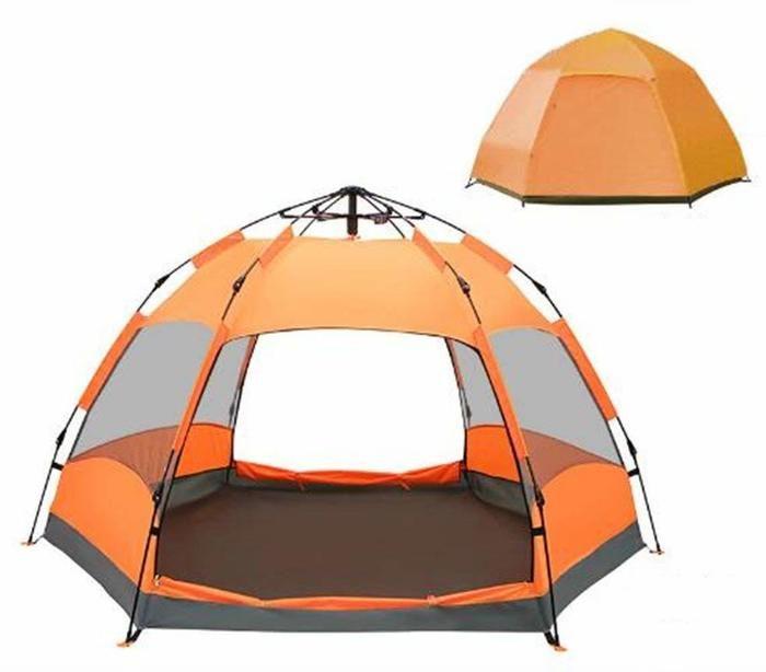 メッシュ生地のテントの写真