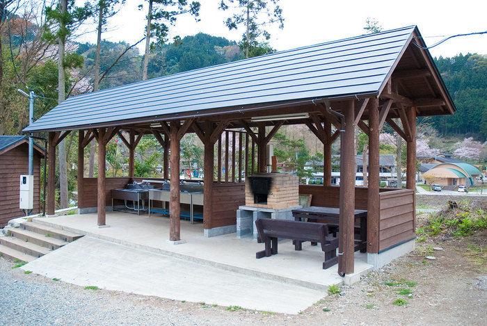 青根キャンプ場のピザ釜