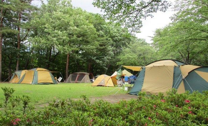 那須野が原公園のテントサイトの写真