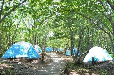 休暇村那須のテントサイトの写真