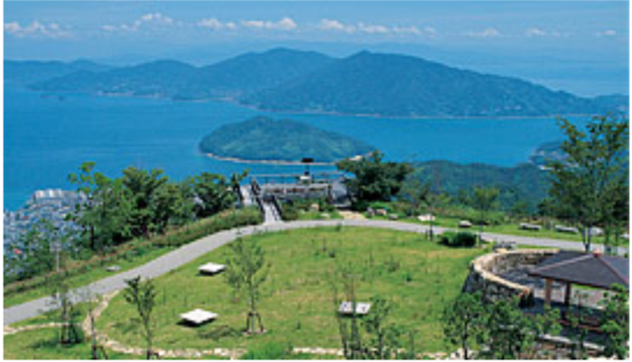 野呂山キャンプ場 見晴らしのよい場所