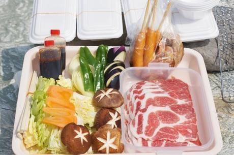 バーベキューの食材の写真