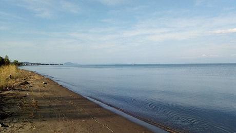 海沿いの砂浜の写真