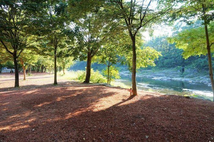 長瀞オートキャンプ場の川の写真