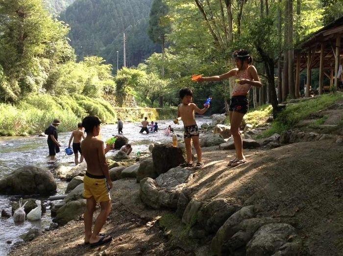 せせらぎキャンプ場の名栗川