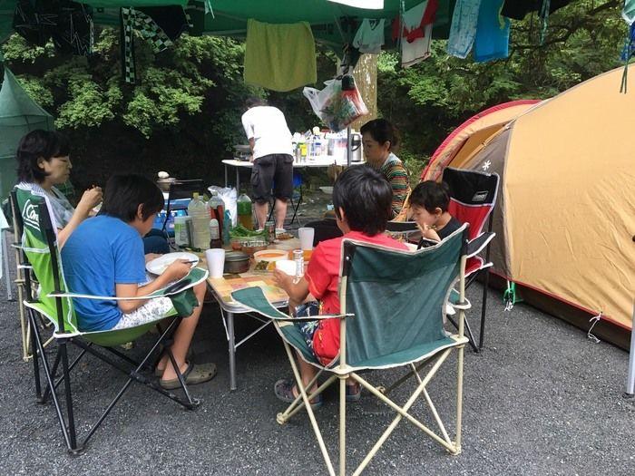 せせらぎキャンプ場のテントサイト