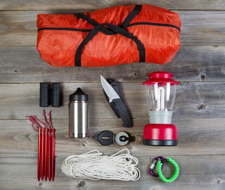 キャンプ道具セットの写真