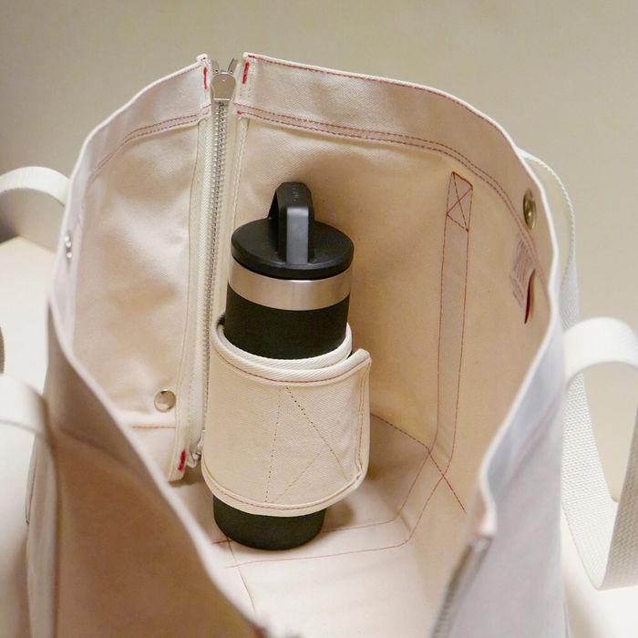 スプーンフルのトートバッグのボトルホルダー