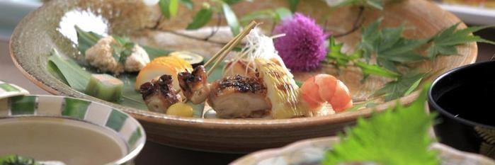 久住高原コテージのレストランの食事