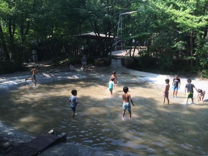赤城山オートキャンプ場のじゃぶじゃぶ池