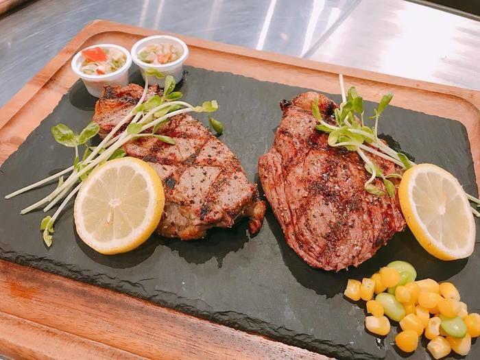 本格派のステーキ