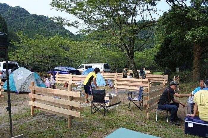 蜂の巣キャンプ場のテントサイトの写真