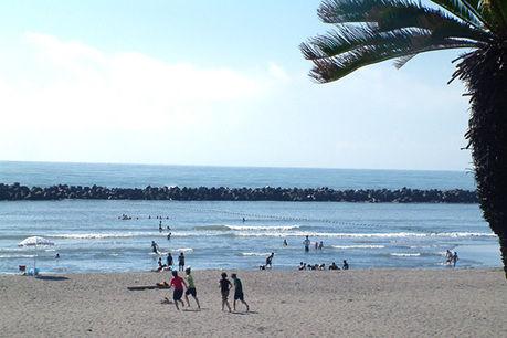 高鍋海水浴場キャンプ村の目の前の海の写真