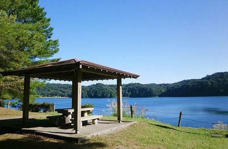 御池野鳥の森公園キャンプ村にある休憩場の写真