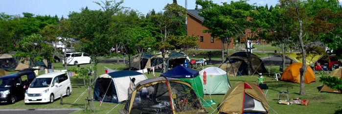 ひなもりオートキャンプ場のオートキャンプサイトの写真