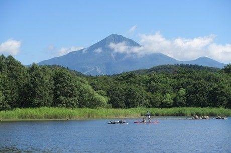 猪苗代湖の湖の写真