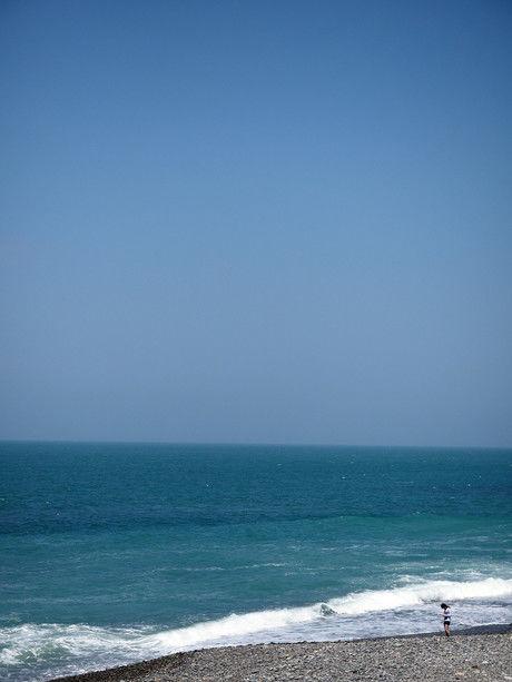 朝日ヒスイ海岸の綺麗な海の写真