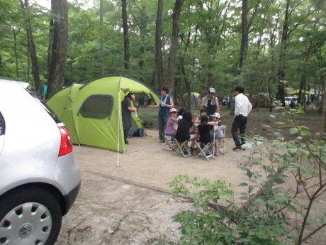 日光だいや川公園オートキャンプ場のテントサイトの写真