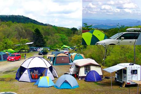 ニュー霧降牧場キャンプ場のテントサイトの写真