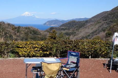雲見オートキャンプ場から景色の写真