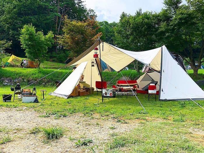 OGAWAのツインピルツフォークでカンガルースタイルキャンプ