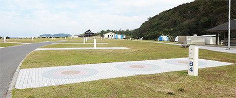 島根県立石見海浜公園のテントサイトの写真
