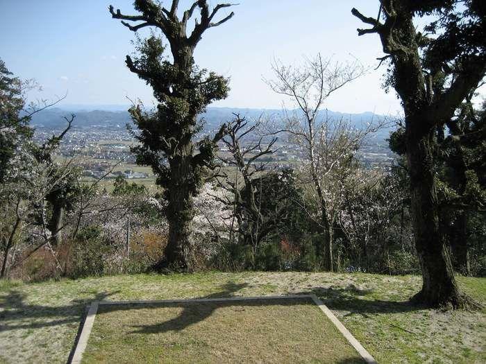 天王山キャンプ場からの眺めの写真