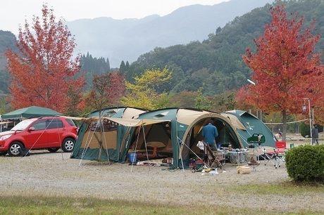 OKオートキャンプ場のオートキャンプテントサイト