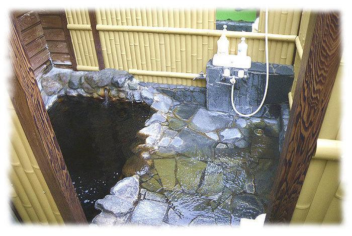 つがる地球村の露天風呂の写真