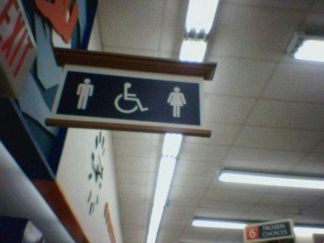 トイレの看板の写真