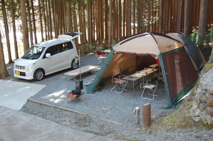 天川村 みのずみオートキャンプ場のオートキャンプサイトの写真