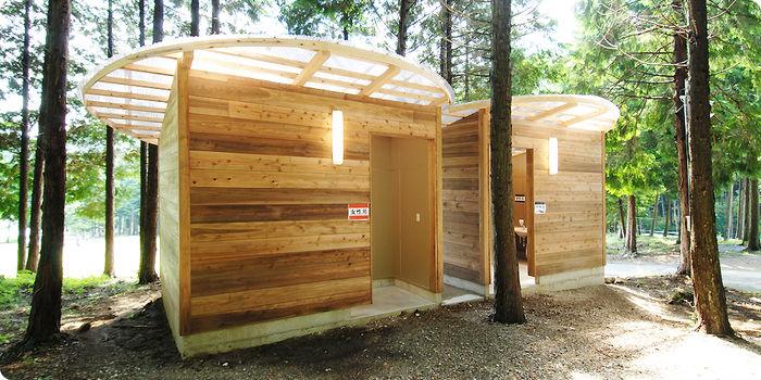 キャンプリゾート森のひとときのトイレの様子