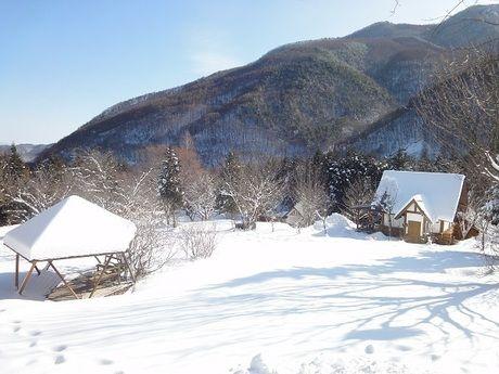 ミヤシタヒルズオートキャンプ場の冬の様子