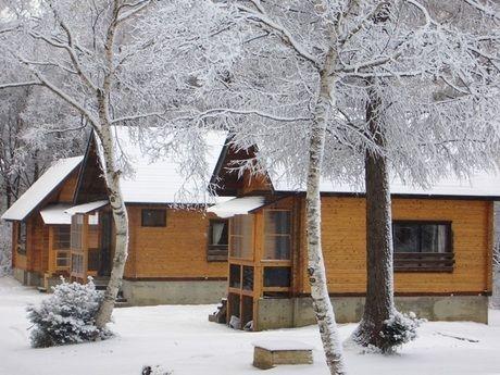 斑尾高原どんぐり村の冬の様子