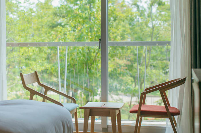 ホテルの部屋から見る景色