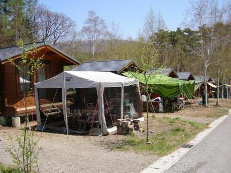 清里中央オートキャンプ場のログケビンの写真