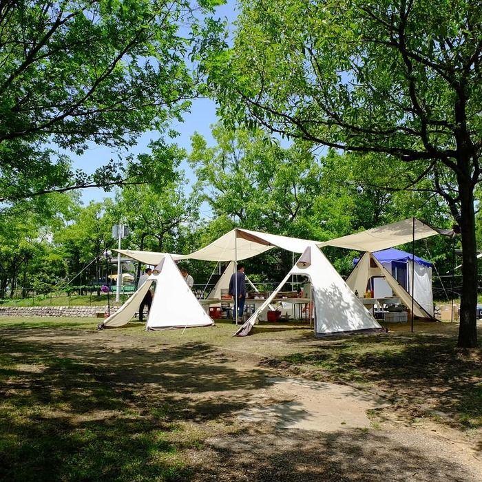 ホテル・ロッジ舞州内のキャンプ場